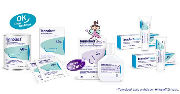 Tannolact® Badezusatz, Lotio, Creme und Fettcreme