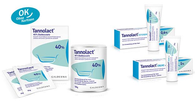 Tannolact® Creme 1%, Fettcreme 0,4% Creme und 40% BadezusatzBadezusatz